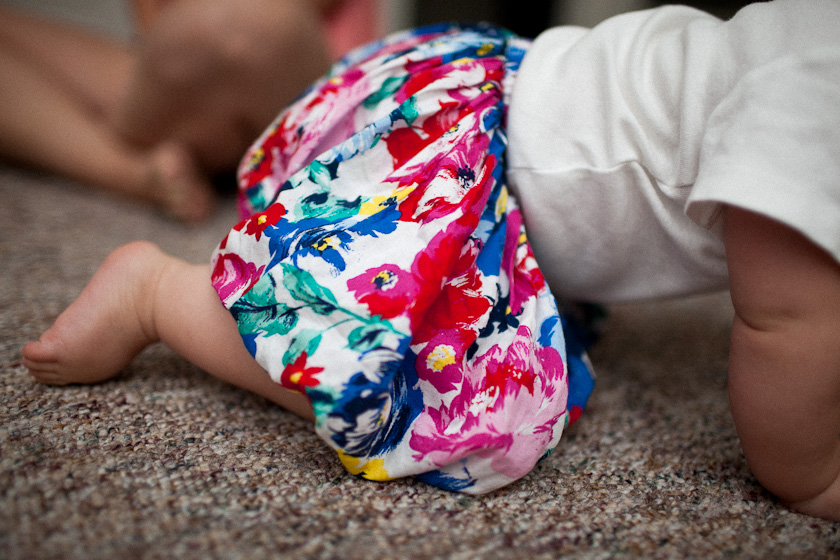 guess who is crawling!?