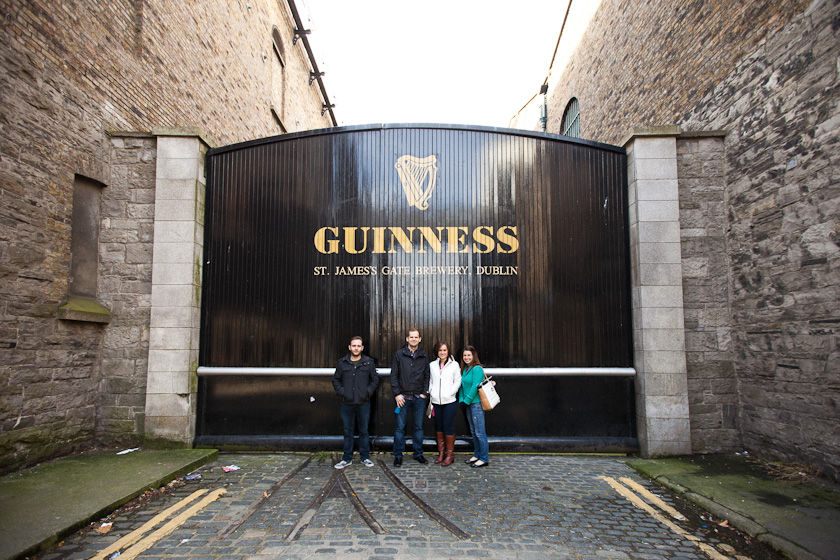guinness.  the origins.  thanks random lady for taking our picture.