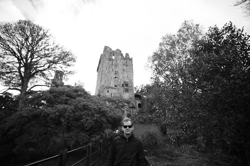 """like a boss"" at Blarney Castle."