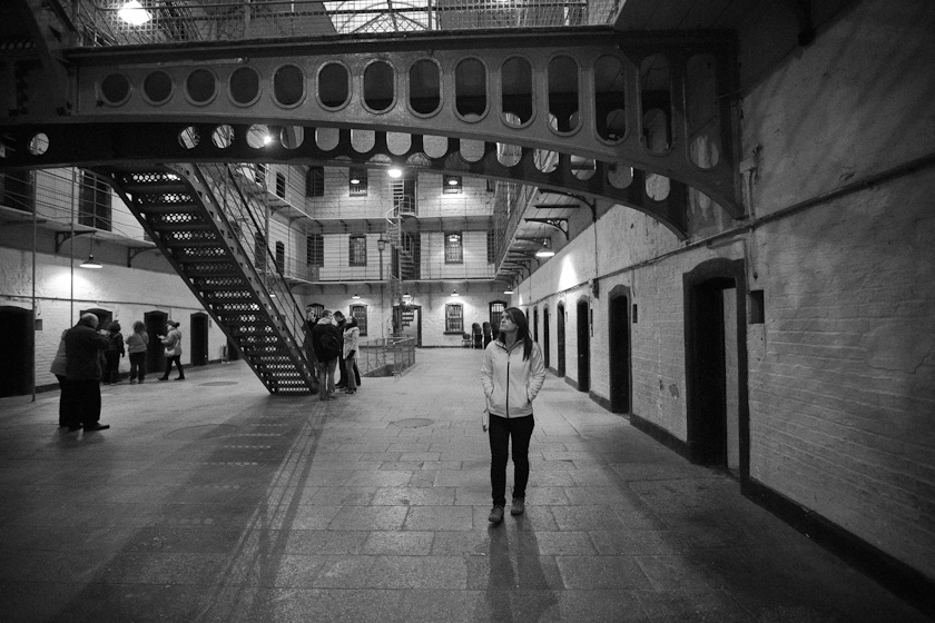 kate at Kilmainham Gaol aka jail.
