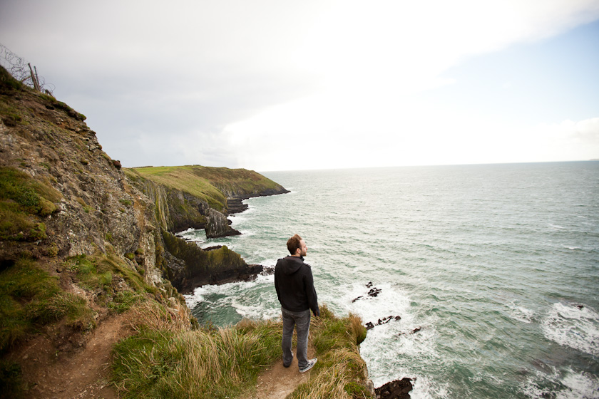i cannot begin to describe to you how it feels to stand at the edge of a 300ft cliff on the coast of ireland.