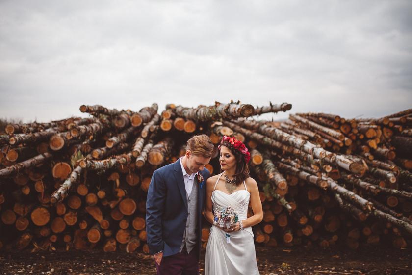New Hampshire camping wedding