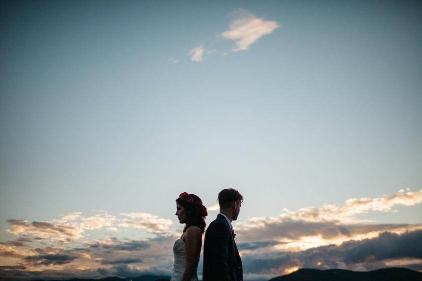 new hampshire lake wedding
